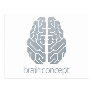Brain Top Concept Postcard