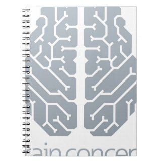 Brain Top Concept Spiral Notebooks