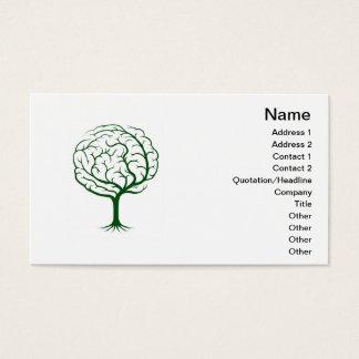 Brain tree illustration business card
