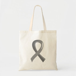 Brain Tumor Grey Ribbon 3 Tote Bag