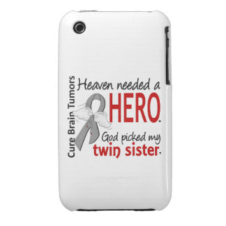 Brain Tumors Heaven Needed a Hero Twin Sister Case-Mate iPhone 3 Case
