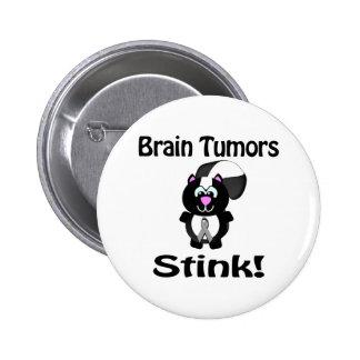 Brain Tumors Stink Skunk Awareness Design 2 Inch Round Button