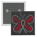 Brain Tumour Butterfly Inspiring Words 2 Inch Square Button