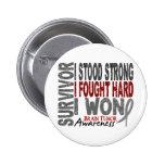 Brain Tumour Survivor 4 2 Inch Round Button