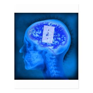 brain turned off postcard