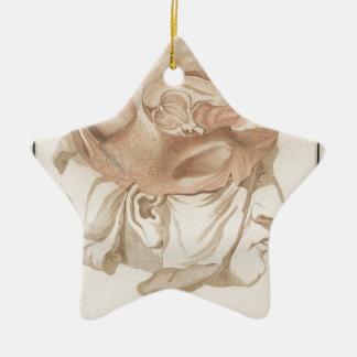 Brain Two - Neuroanatomy Ceramic Star Ornament