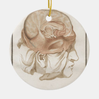 Brain Two - Neuroanatomy Round Ceramic Ornament