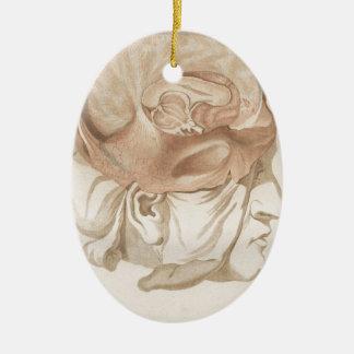 Brain Two - Neuroanatomy Ceramic Oval Ornament