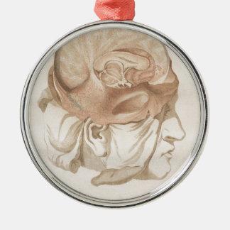 Brain Two - Neuroanatomy Silver-Colored Round Ornament