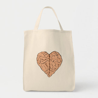 Brainheart Grocery Tote Bag