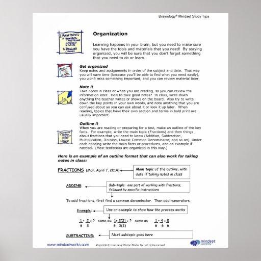 Brainology® Poster4: Organization Posters