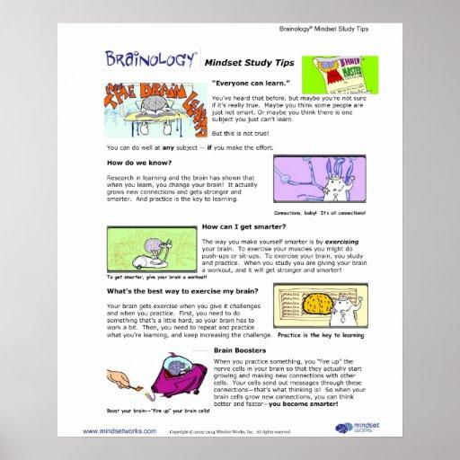 Brainology® Poster 1: Mindset Tips