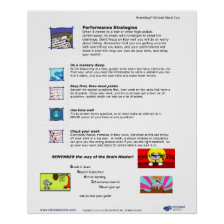 Brainology® Poster 8: Performance Strategies