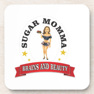 Brains and Beauty sm Beverage Coasters