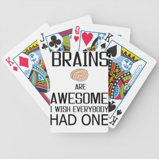 Brains Are Awesome Bicycle Playing Cards