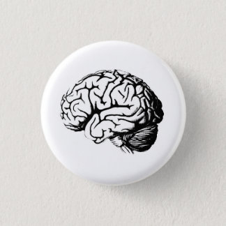 Brains are hot. 1 inch round button