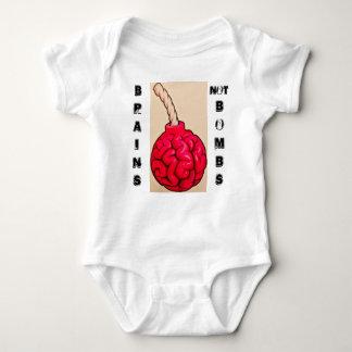 Brains Not Bombs Baby Bodysuit