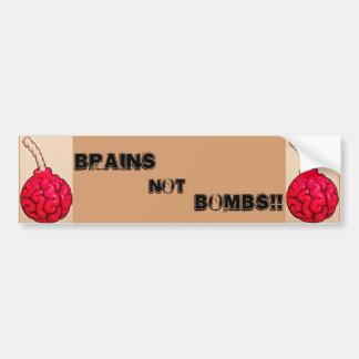 Brains Not Bombs Bumper Sticker