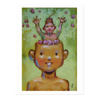 Brains postcard