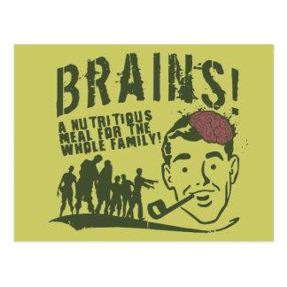 Brains! Postcard