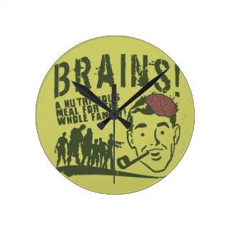 Brains! Round Clock