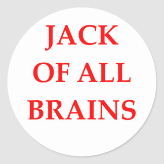 brains round sticker