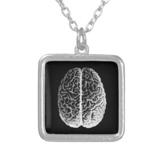 Brains! Silver Plated Necklace