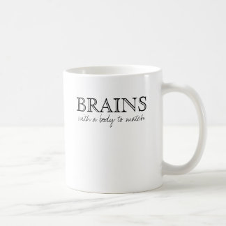 BRAINS, with a body to match Coffee Mug