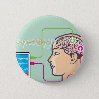 Brainwave Monitoring 2 Inch Round Button