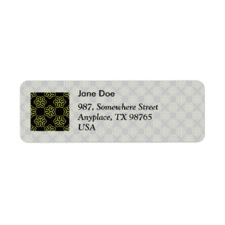 Brainy bacteria pattern return address label