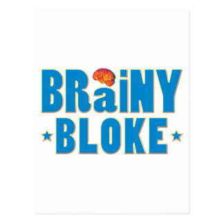 Brainy Bloke Postcard