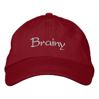 Brainy Embroidered Cap / Hat