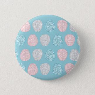 Brainy Pastel Pattern 2 Inch Round Button