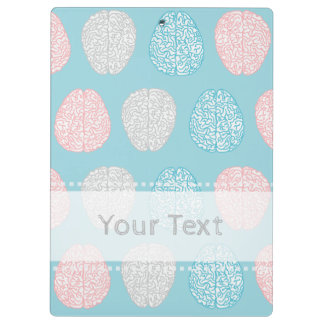 Brainy Pastel Pattern (Awesome Pastel Brains) Clipboard