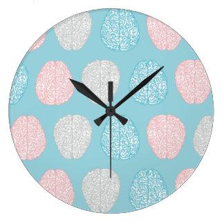 Brainy Pastel Pattern (Awesome Pastel Brains) Clock
