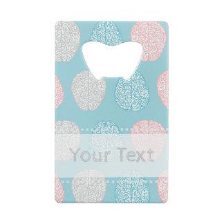 Brainy Pastel Pattern (Awesome Pastel Brains) Credit Card Bottle Opener