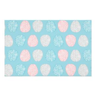 Brainy Pastel Pattern (Awesome Pastel Brains) Customized Stationery