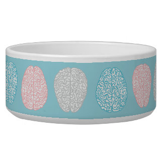 Brainy Pastel Pattern (Awesome Pastel Brains) Dog Bowls