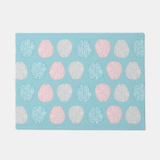 Brainy Pastel Pattern (Awesome Pastel Brains) Doormat