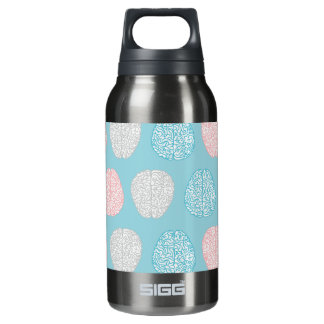 Brainy Pastel Pattern (Awesome Pastel Brains) Insulated Water Bottle