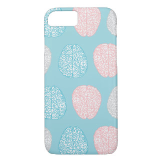 Brainy Pastel Pattern (Awesome Pastel Brains) iPhone 8/7 Case