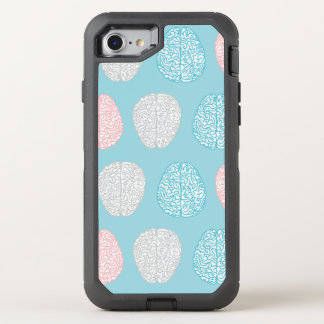 Brainy Pastel Pattern (Awesome Pastel Brains) OtterBox Defender iPhone 8/7 Case