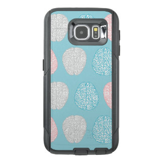Brainy Pastel Pattern (Awesome Pastel Brains) OtterBox Samsung Galaxy S6 Case
