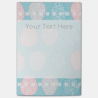 Brainy Pastel Pattern (Awesome Pastel Brains) Post-it Notes