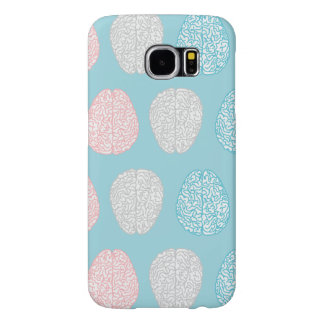 Brainy Pastel Pattern (Awesome Pastel Brains) Samsung Galaxy S6 Cases