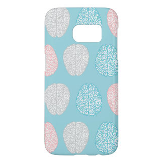 Brainy Pastel Pattern (Awesome Pastel Brains) Samsung Galaxy S7 Case