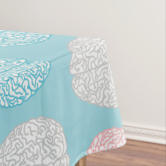 Brainy Pastel Pattern (Awesome Pastel Brains) Tablecloth
