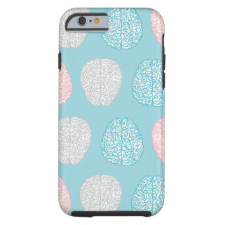 Brainy Pastel Pattern (Awesome Pastel Brains) Tough iPhone 6 Case