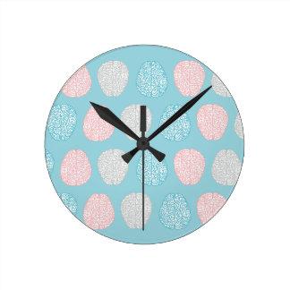 Brainy Pastel Pattern Clocks
