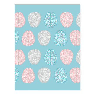 Brainy Pastel Pattern Postcard
